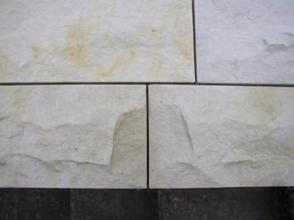 Sandstein hellgelb, Sielec gespalten + gesägt