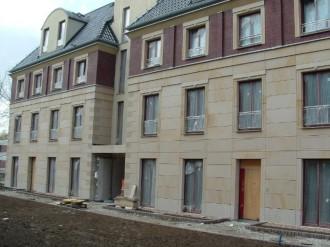 Privathaus, Material: Deutmannsdorfer Sandstein