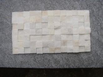Marmor weiss, 25 x 25 mm, gespalten