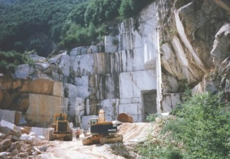 Steinbruch in Carrara