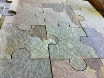 Platten Oberfläche naturrauh
