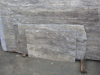 Travertin Silber, Vein Cut,
