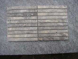 Travertin Silber, geschliffen, 150 x 15 mm