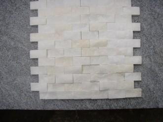 Marmor weiss, gespalten, 50 x 25 mm