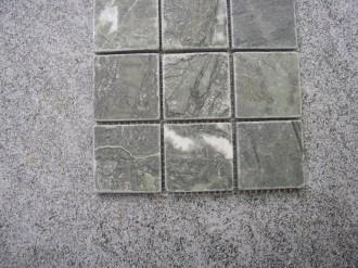 Marmor grün, getrommelt, 50 x 50 mm