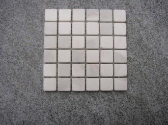 Marmor weiss, getrommelt, 25 x 25 mm