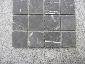 Marmor schwarz, getrommelt, 50 x 50 mm