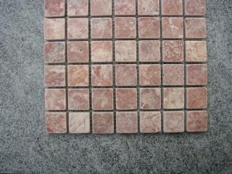 Travertin red, getrommelt, 25 x 25 mm