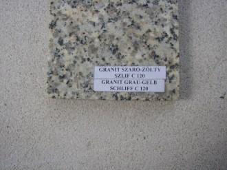 Striegauer Granit, grau/gelb, geschliffen C 120