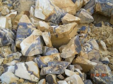 Findlinge gelber Sandstein