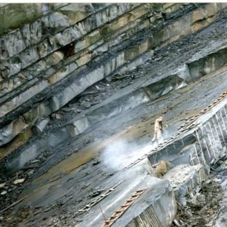 Steinbruch Brenna Sandstein in Polen