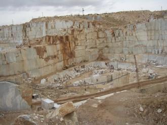Steinbruch Afyon-Marmor white in Afyon Türkei