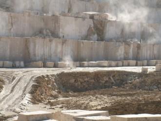 Steinbruch Marmor in Denizli, Türkei
