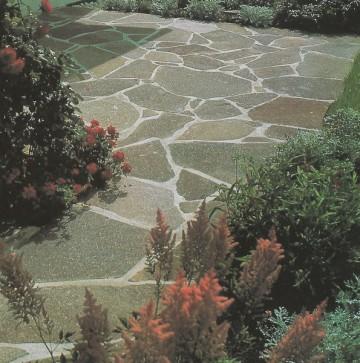 Bodenbelage, Polygonal, Oberfläche Naturspaltrauh